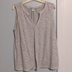 Old Navy white with black stripes tank top.